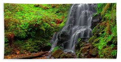 Fairy Falls Oregon Hand Towel by Jonathan Davison