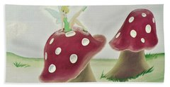 Fairy On Mushroom Trees Hand Towel