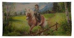 Fairy Tale In The Alps Hand Towel