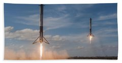 Falcon Heavy Double Sideboosters Landing Hand Towel