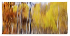 Bath Towel featuring the photograph Fall Abstract by Mircea Costina Photography