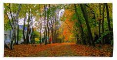 Fall Afternoon On The Rail Trail Hand Towel