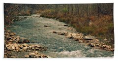 Fall Along The River Bath Towel