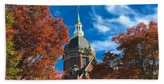 Fall And The Dome Bath Towel by Mark Dodd