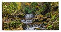 Fall At Bark Camp Creek Bath Towel