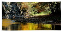 Fall At Big Creek Bath Towel by Bruce Patrick Smith