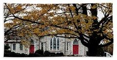 Fall At Church Hand Towel