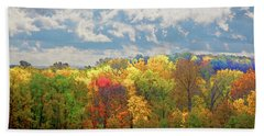 Bath Towel featuring the photograph Fall At Shaw by David Coblitz