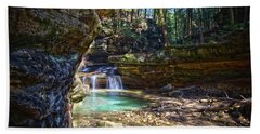 Fall Below Old Mans Cave Hand Towel