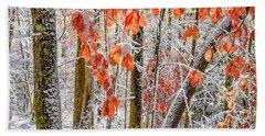 Fall Color Autumn Snow Bath Towel