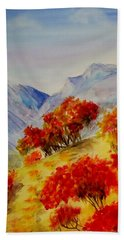 Bath Towel featuring the painting Fall Color by Jamie Frier