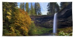 Fall Colors At South Falls Bath Towel
