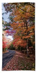 Fall Colors Backroad Bath Towel