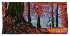 Bath Towel featuring the painting Fall Colors II by Michael Frank