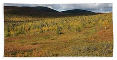 Fall Colors In Tundra Bath Towel