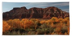 Fall Colors Near Zion Bath Towel