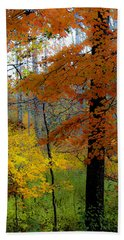 Fall Colors Watercolor Bath Towel