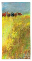 Fall Day On The Mesa Hand Towel by Frances Marino