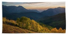 Fall Evening In American Fork Canyon Bath Towel
