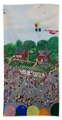 Hand Towel featuring the painting Fall Fair by Virginia Coyle