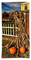 Fall Fence At Hale Farm Bath Towel