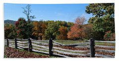 Fall Fence Bath Towel by Eric Liller