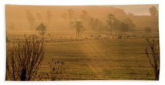Hand Towel featuring the photograph Fall Field by Kevin Blackburn