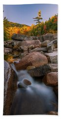 Bath Towel featuring the photograph Fall Foliage In New Hampshire Swift River by Ranjay Mitra