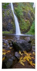 Bath Towel featuring the photograph Fall Gorge by Jonathan Davison