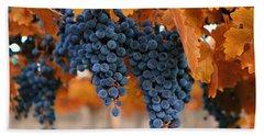 Fall Grapes Fall Colors Bath Towel by Lynn Hopwood