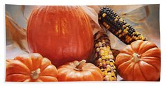 Fall Harvest - Thanksgiving Still Life Hand Towel