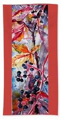Hand Towel featuring the painting Fall II by Kovacs Anna Brigitta