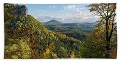 Fall In Bohemian Switzerland Hand Towel