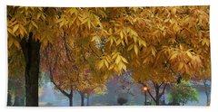 Fall In My Hometown Bath Towel by Lynn Hopwood