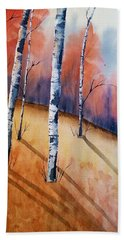 Fall In The Birches Hand Towel