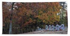 Fall In The Cemetery Bath Towel