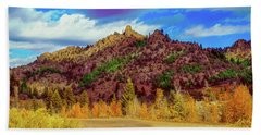 Fall In The Oregon Owyhee Canyonlands  Bath Towel by Robert Bales