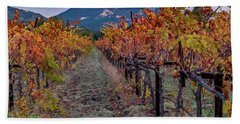 Hand Towel featuring the pastel Fall In Wine Country by Bill Gallagher