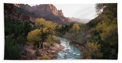 Fall In Zion National Park Hand Towel
