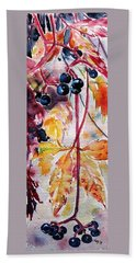Hand Towel featuring the painting Fall by Kovacs Anna Brigitta