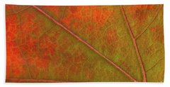 Fall Leaf Jewel Bath Towel