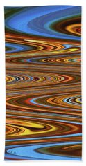 Fall Leaves Abstract Hand Towel
