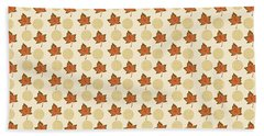 Fall Leaves Light Pattern Hand Towel