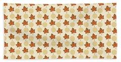 Fall Leaves Light Pattern Bath Towel