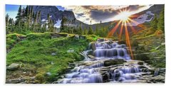 Bath Towel featuring the painting Fall Light by Harry Warrick