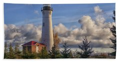 Fall Morning At Crisp Point Hand Towel