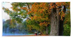 Fall Morning In Jackson Hand Towel