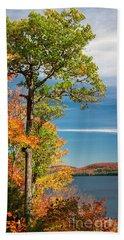 Bath Towel featuring the photograph Fall Oak Tree by Elena Elisseeva