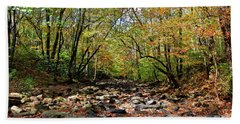Hand Towel featuring the photograph Fall On Clifty Creek by Paul Mashburn