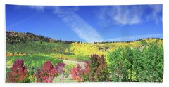 Fall On County Road 12 Hand Towel